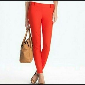 J. CREW City Fit Red Orange Pants EUC 0